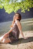красивейшая девушка платья Стоковое фото RF