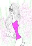 Красивейшая девушка способа бесплатная иллюстрация