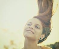 красивейшая девушка стороны Стоковая Фотография