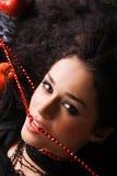 красивейшая ексцентрическая женщина портрета Стоковое Изображение