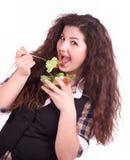 красивейшая есть девушка еды здоровая Стоковое Изображение