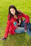 красивейшая женская модельная зима портрета обмундирования Стоковые Фотографии RF
