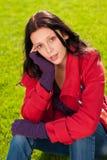 красивейшая женская модельная зима портрета обмундирования Стоковое Фото