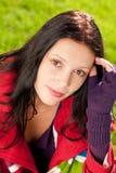 красивейшая женская модельная зима портрета обмундирования Стоковые Изображения RF