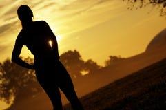 красивейшая женщина бегунка стоковые фотографии rf