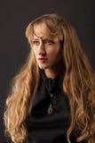 красивейшая женщина белокурых волос длинняя Стоковые Фотографии RF