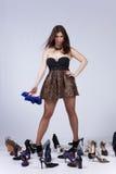 красивейшая женщина ботинок влюбленностей Стоковая Фотография RF