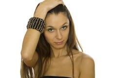 красивейшая женщина браслета стоковые изображения rf