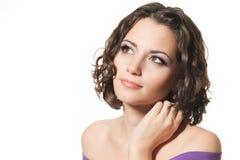 красивейшая женщина брюнет Стоковые Изображения
