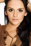 красивейшая женщина брюнет Стоковая Фотография RF