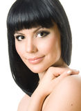красивейшая женщина брюнет Стоковое фото RF