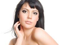 красивейшая женщина брюнет Стоковые Фотографии RF