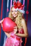 Красивейшая женщина Валентайн Стоковая Фотография