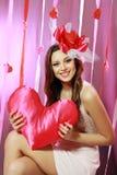 Красивейшая женщина Валентайн Стоковая Фотография RF