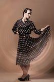 Красивейшая женщина в изображении год сбора винограда Стоковое Изображение RF