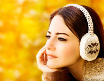 Красивейшая женщина в осени Стоковая Фотография RF