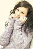 Красивейшая женщина в свитере стоковое фото