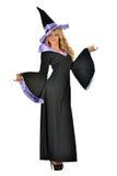 Красивейшая женщина в costume масленицы ведьмы. Стоковая Фотография