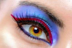 красивейшая женщина глаза Стоковая Фотография