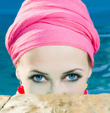 красивейшая женщина голубых глазов Стоковое Фото