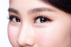 красивейшая женщина глаза Стоковое фото RF