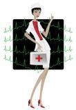 красивейшая женщина доктора Стоковые Фото