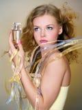 красивейшая женщина дух бутылки Стоковое Изображение RF
