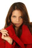 красивейшая женщина зимы состава способа Стоковое фото RF