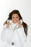 красивейшая женщина зимы способа Стоковое фото RF