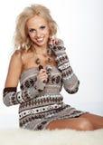 Красивейшая женщина зимы Стоковое фото RF