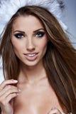 Красивейшая женщина зимы Стоковые Изображения