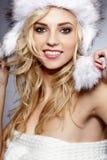 Красивейшая женщина зимы Стоковая Фотография