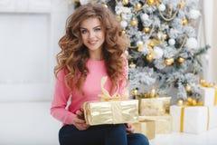 красивейшая женщина космоса подарка экземпляра рождества Стоковые Фото