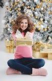 красивейшая женщина космоса подарка экземпляра рождества Стоковые Изображения