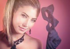 красивейшая женщина кота Стоковое Изображение