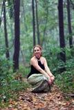 красивейшая женщина красного цвета портрета волос стоковое фото rf