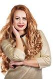красивейшая женщина курчавых волос стоковые изображения