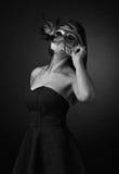 красивейшая женщина маски масленицы Стоковое фото RF