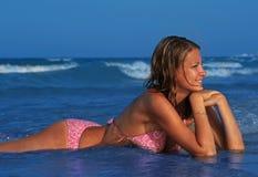 красивейшая женщина моря Стоковые Фото