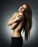 красивейшая женщина обнажённого Стоковые Фото