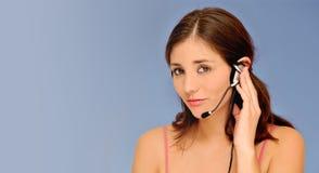 красивейшая женщина обслуживания клиента Стоковое фото RF