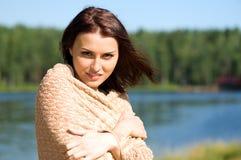 красивейшая женщина озера Стоковые Фото