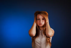 красивейшая женщина паники Стоковое фото RF