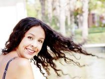 красивейшая женщина парка стоковое фото