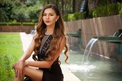 красивейшая женщина парка Стоковое Изображение