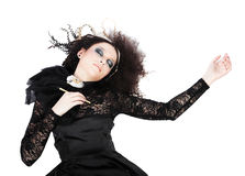 красивейшая женщина пер удерживания каллиграфии Стоковая Фотография RF