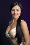 красивейшая женщина платья белая Стоковая Фотография RF