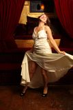красивейшая женщина платья белая Стоковое фото RF