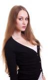 красивейшая женщина портрета белокурых волос длинняя Стоковые Фотографии RF