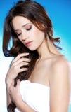 красивейшая женщина портрета брюнет Стоковое Фото